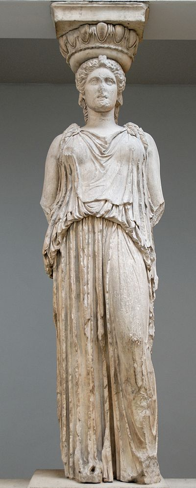 Ancient Greek statue showing women's clothing