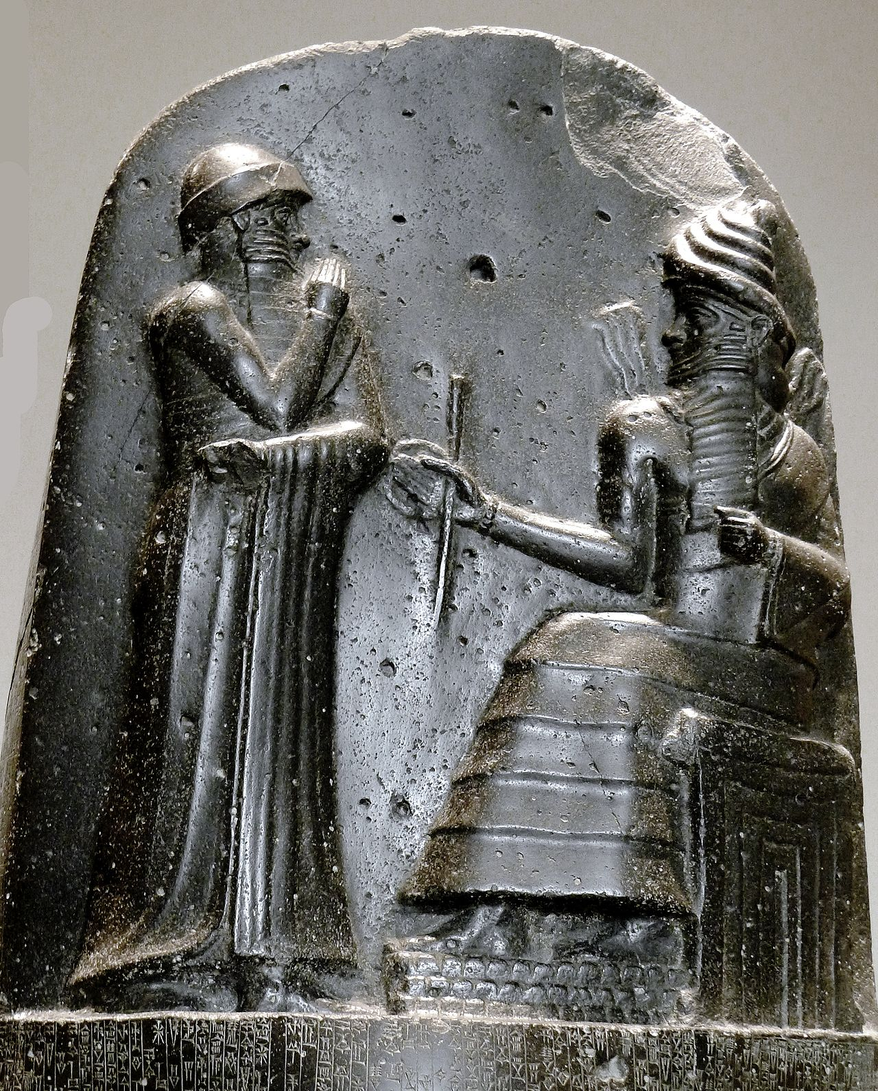 Hammurabi, king of Babylon, enthroned