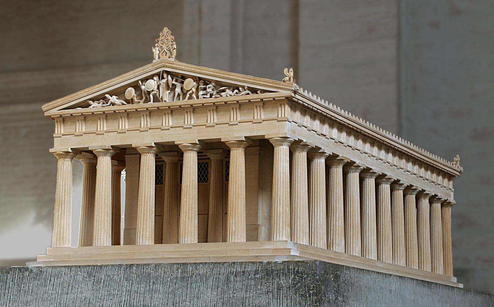 Model of the Greek temple of Aphaia