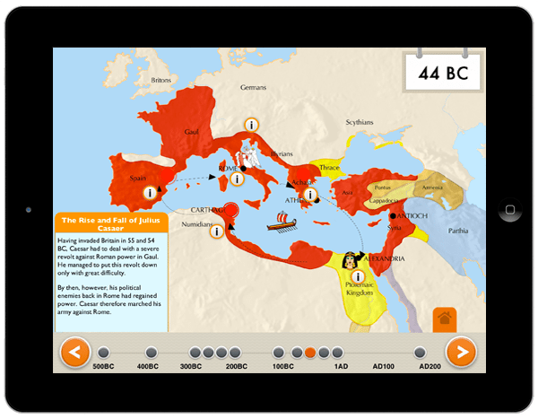 the rise of the roman history app for ipad
