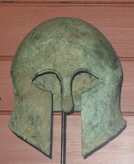 Etruscan helmet in the british museum