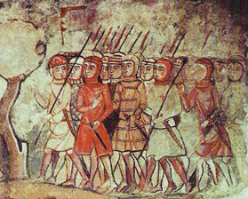 Catalan infantry of the 14th. century