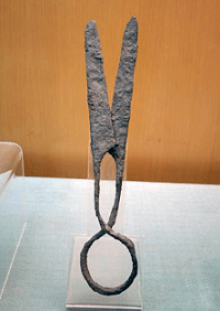 Agriculture: A pair of Eastern-Han iron Scissors