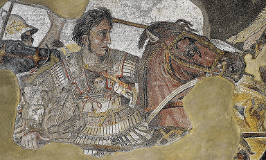 A Detail of the Alexander Mosaic - Alexander the Great