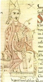 11th Century Manusscript depicting Pope Gregory VII