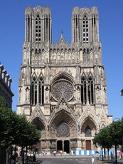 Facade of Reims Cathedral France