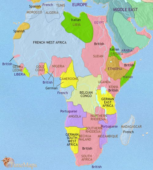 Map Of Africa At AD TimeMaps - Map africa