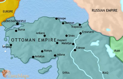 Map of Turkey at 1914CE