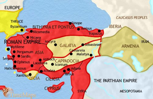 Map of Turkey at 30BCE