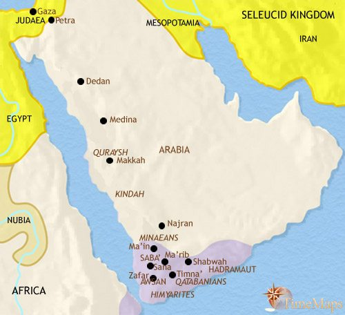 Map of Arabia at 200BCE