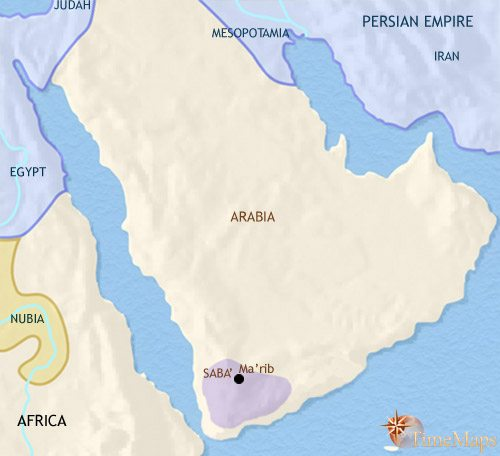 Map of Arabia at 500BCE