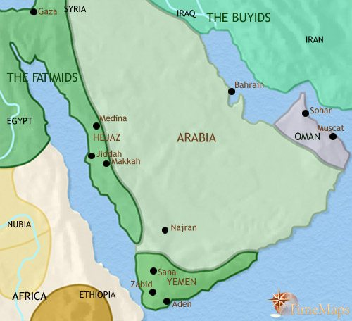 Map of Arabia at 979CE
