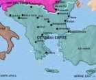 Map of Greece and the Balkans at 1789CE