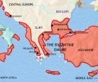Map of Greece and the Balkans at 750CE