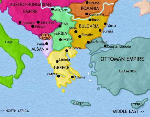 Map Of Greece And The Balkans At AD TimeMaps - Political map of greece