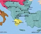Map of Greece and the Balkans at 1837CE