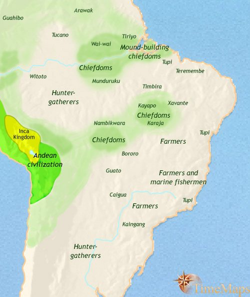 Map of Brazil at 1453AD