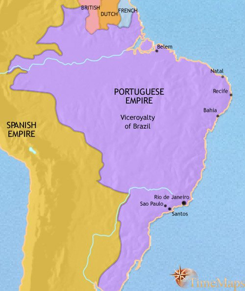 Map of Brazil at 1789AD