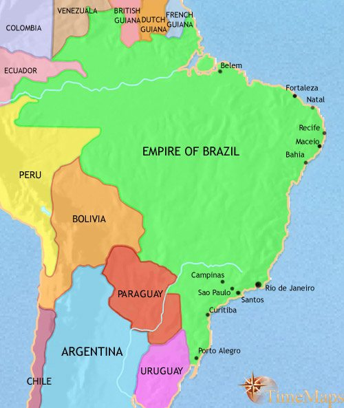 Map of Brazil at 1837AD