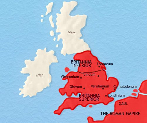 Map of Britain at 200AD
