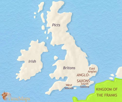 Map of Britain at 500AD