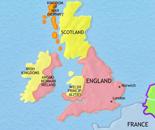 Map of Britain at 1215AD