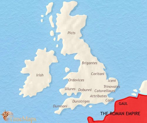 Map of Britain at 30BC