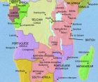 Map of Central Africa at 1960AD