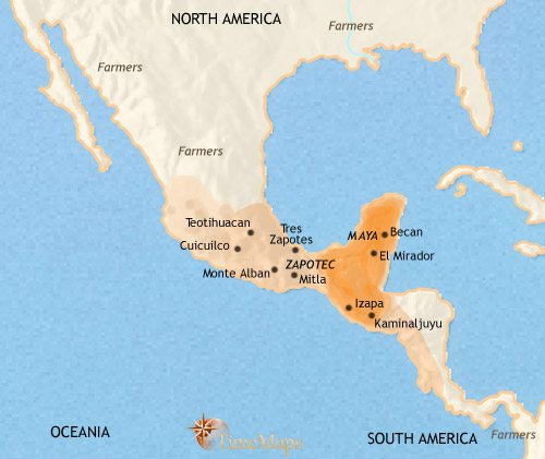Mayan Civilization Map The Mayan civilization   TimeMaps