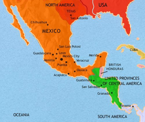 Map Of Mexico And Central America At AD TimeMaps - Map of mexico