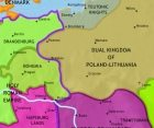 Map of East Central Europe at 1453CE
