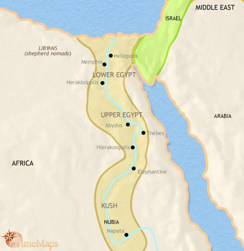 Map of Egypt at 1000BC