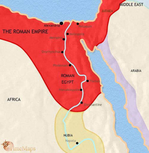 Map of Egypt at 200AD