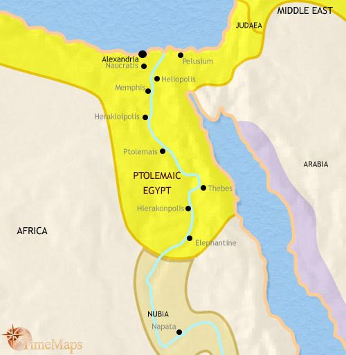 Map of Egypt at 200BC