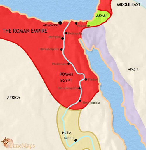 Map of Egypt at 30BC