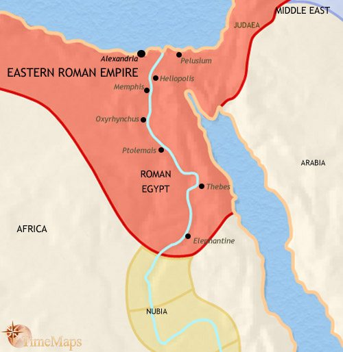 Map of Egypt at 500AD