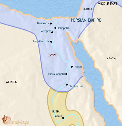 Map of Egypt at 500BC