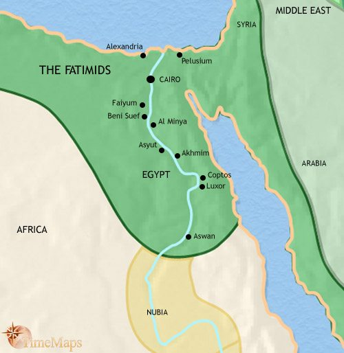 Map of Egypt at 979AD