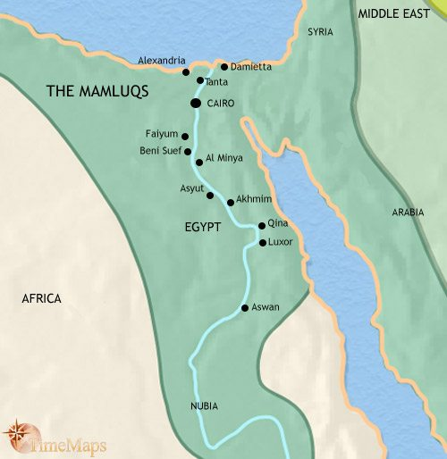 Map of Egypt at 1453AD