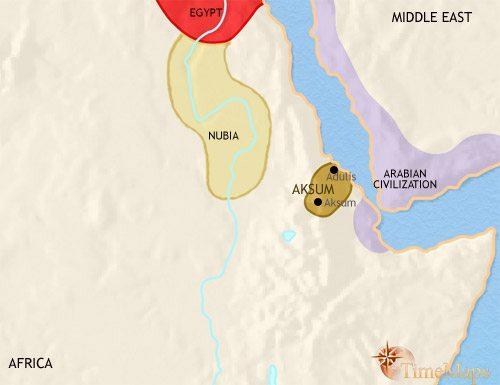 Map of Ethiopia at 200AD