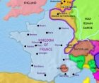 Map of France at 1648CE