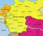 Map of Germany at 1914CE