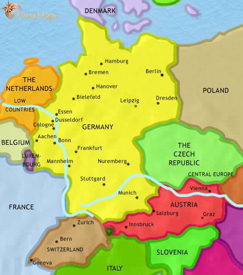 Map of Germany at 2005AD