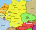 Map of Germany at 2005CE
