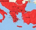 Map of Greece and the Balkans at 200CE