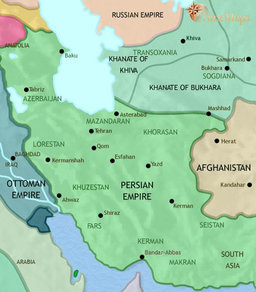 Map of Iran at 1789CE
