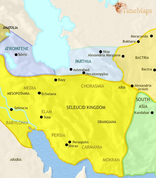 Map of Iran at 200BCE