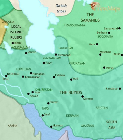 Map of Iran at 979CE