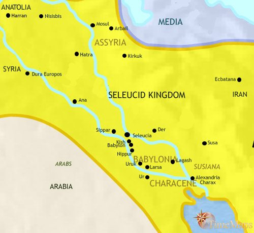 Map of Iraq at 200BC
