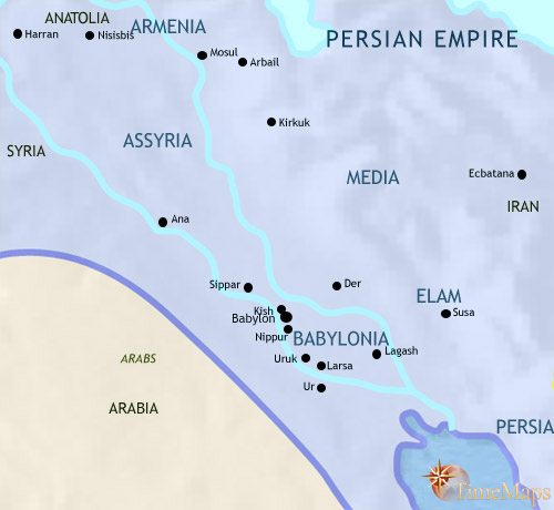 Map of Iraq at 500BC